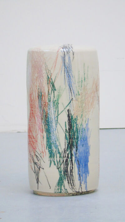 Stefanie Brehm, 'column small - fired chalk', 2018