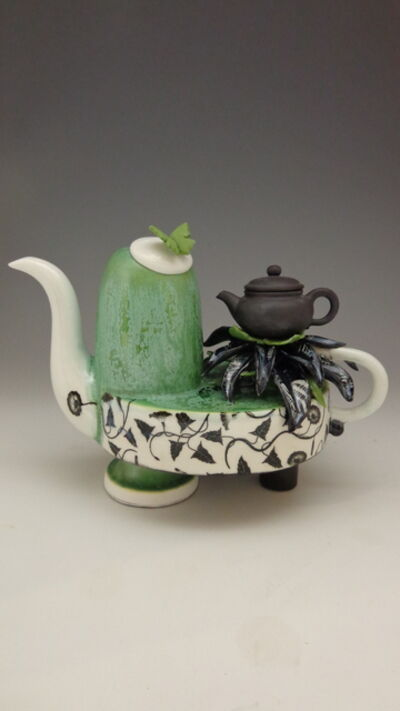 Donna Causland, 'Green & Black Teapot Traditions', 2019