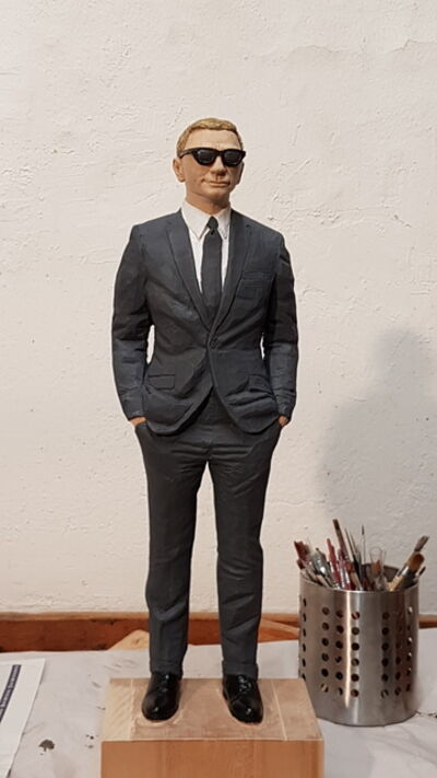 Christof Paul, 'Man with gray  suit', 2019