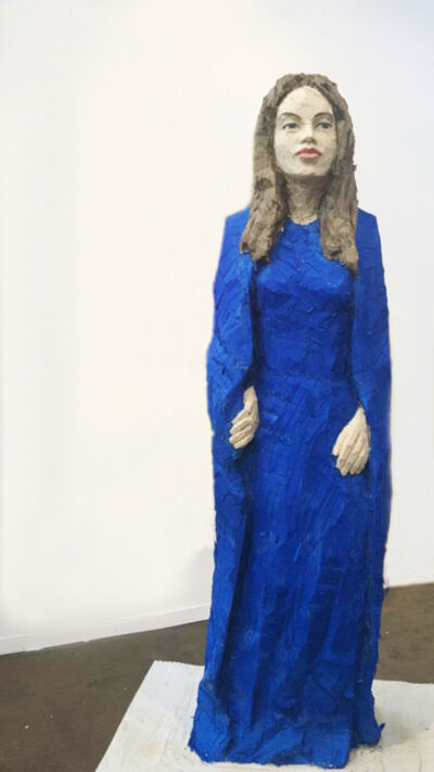 Stephan Balkenhol, 'Woman with blue dress II', 2019