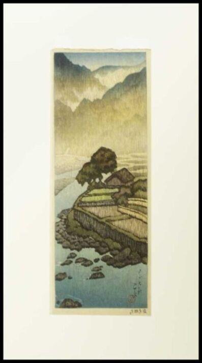 Kawase Hasui, 'Hataori, shiobara', 1918