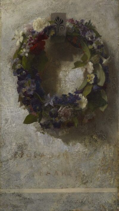 John La Farge, 'Agathon to Erosanthe (Votive Wreath)', 1861