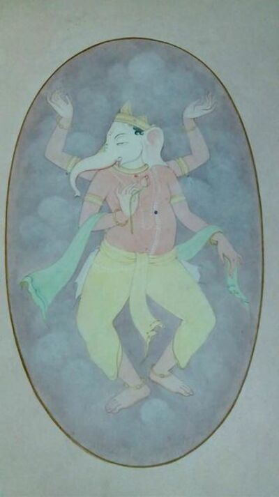 "Mintu Naiya, 'Ganesha, Wash on Paper by Contemporary Artist ""In Stock""', 2010-2019"