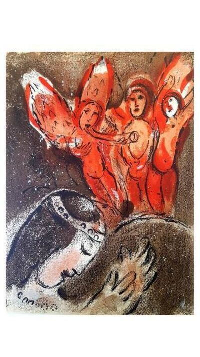 "Marc Chagall, 'Original Lithograph ""Sarah and the Angels"" by Marc Chagall', 1960"