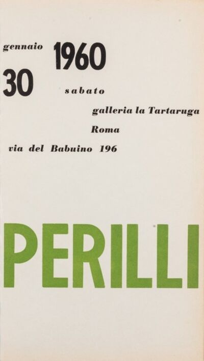 Achille Perilli, 'Perilli', 1960
