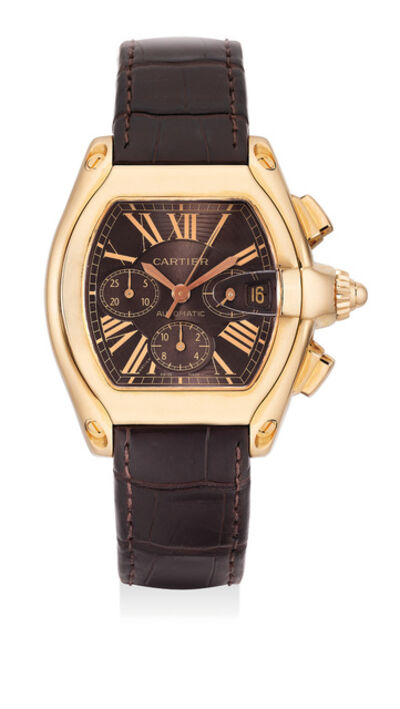 Cartier, 'A pink gold chronograph wristwatch with date', Circa 2008