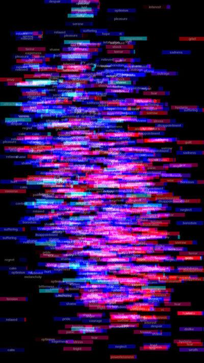 Charles Sandison, 'Mortal Coil (emotional DNA)', 2005