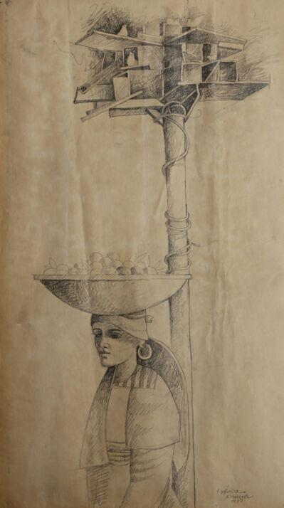Sliman Mansour, 'Dovecote', 1984
