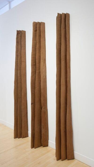 David Nash, 'Three Red Sheaves', 2013
