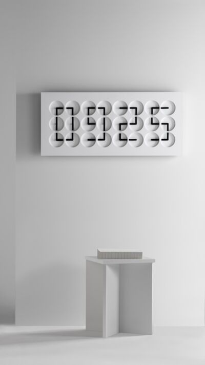 Humans Since 1982, 'ClockClock 24, white', 2016