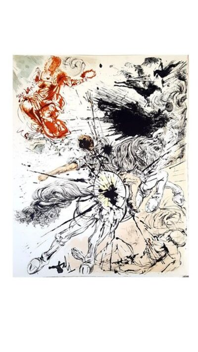 "Salvador Dalí, 'Original Lithograph ""Don Quixote VI"" by Salvador Dali', 1957"