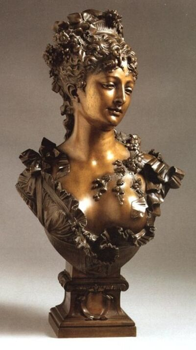 Albert-Ernest Carrier-Belleuse, 'Buste de Flore', ca. 1870