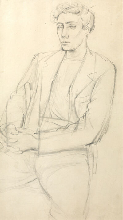 John Minton, 'Portrait of a seated man, Eric Verrico', ca. 1948