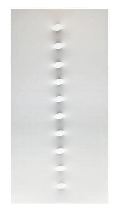 Turi Simeti, '10 ovali bianchi', 2015