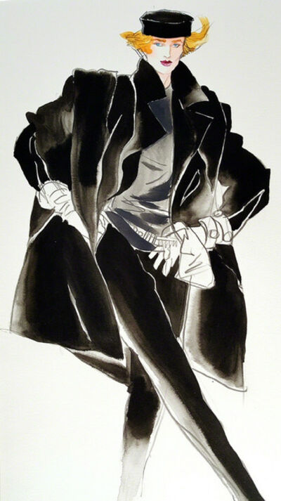 Antonio Lopez, 'Elegant Model Vogue Magazine Fashion Illustration (Stephen Sprouse)', 1984