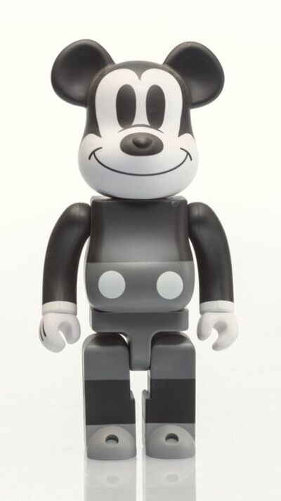 BE@RBRICK, 'Mickey Mouse 400% (Black and White)', 2010