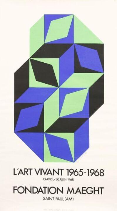 Victor Vasarely, 'L'ART VIVANT POSTER', 1968