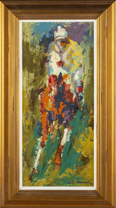 LeRoy Neiman, 'Original Signed Oil Painting Horse & Jockey, 48K Appraisal ', 1960