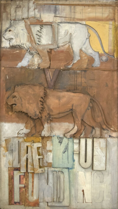 Larry Rivers, 'Lions on the Dreyfus Fund, Inc.', 1964