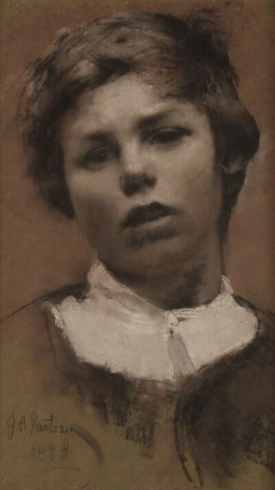 Giulio Aristide Sartorio, 'Young boy with white collar', 1888