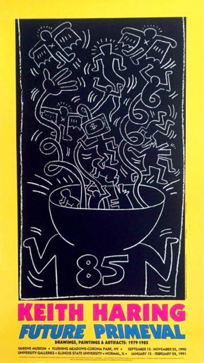 Keith Haring, 'Keith Haring Future Primeval exhibition poster 1990', 1990