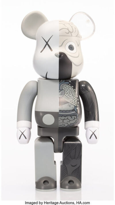 KAWS X BE@RBRICK, 'Dissected Companion 400% (Grey)', 2010