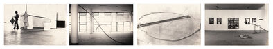 """Arte/Ação (Genilson Soares & Francisco Iñarra), 'Documentação da instalação """"Arqueologia do Urbano'' apresentada na XIV Bienal Internacional de São Paulo, Brasil.', 1977"""