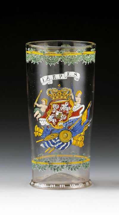 Enamelled Glass, 'Humpen for Augustus the Strong', Saxony, 1720, 1730