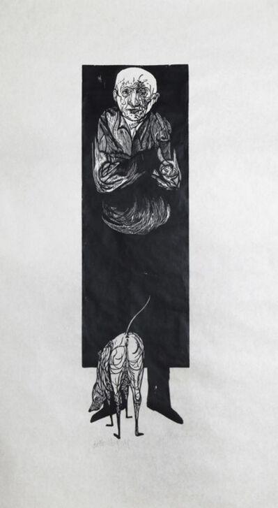 Leonard Baskin, 'Old Man and Dog ', ca. 1970
