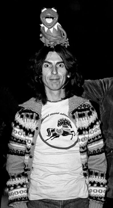 Richard E. Aaron, 'George Harrison & Kermit Hi Resolution on Hahnemuehle Paper'