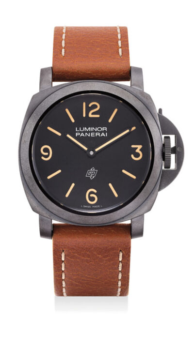 Panerai, 'A fine and rare limited edition blackened stainless steel wristwatch with certificate, guarantee and presentation box, numbered 38 of a limited edition of 300 pieces', 2010