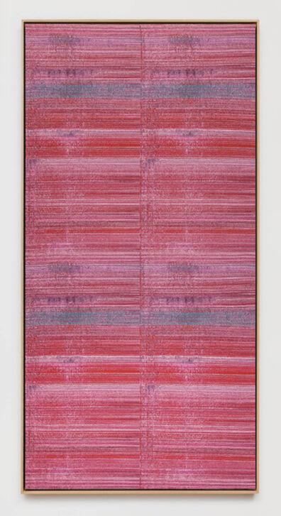 Mika Tajima, 'Negative Entropy (Bally, Ribbon Mills NASA Carbon Fiber 3D Weave, Pink, Hex)', 2015