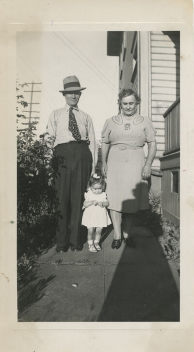 Unknown Artist, 'Untitled [Shadow, parents with daughter]'