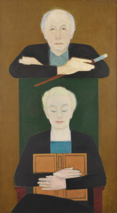 Will Barnet, 'The Painter and the Reader', 2001