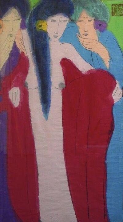 Walasse Ting 丁雄泉, '3 ladies', 1980