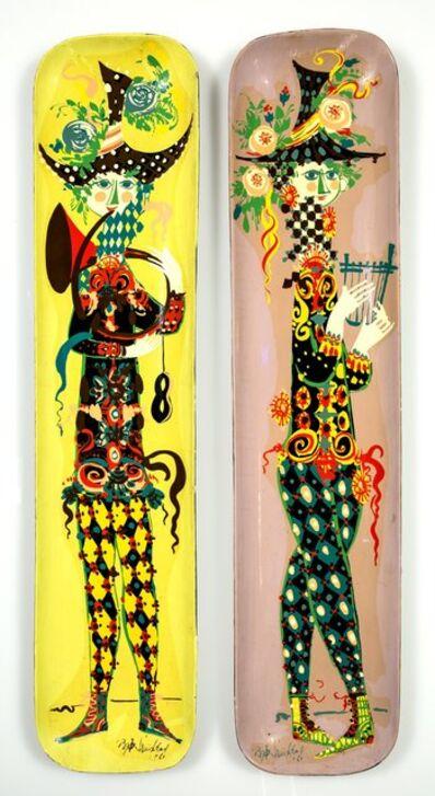 Bjørn Wiinblad, 'Two Figural Wall Panels', circa 1960