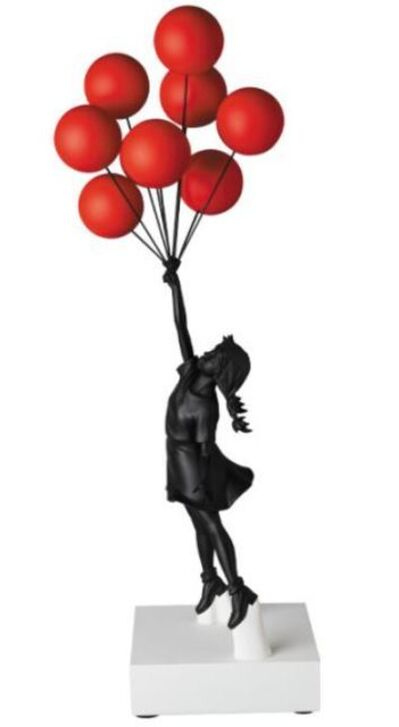 Banksy, 'Flying Balloons Girl Red Balloons w/Black', 2020
