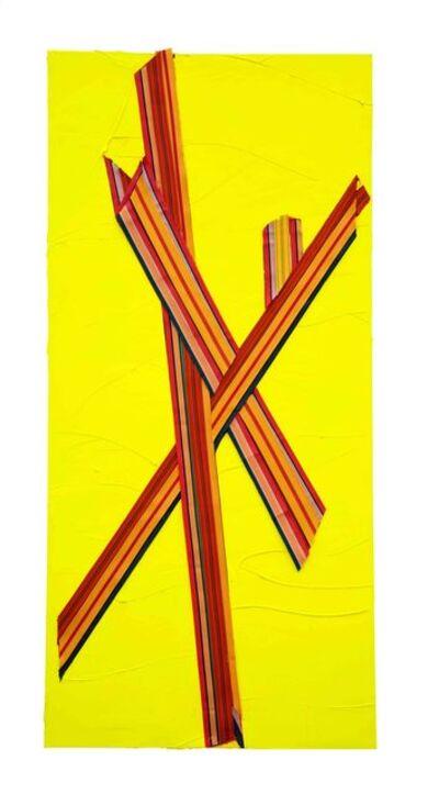 Martin Wehmer, 'yellow STAND', 2018