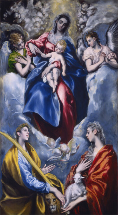 El Greco, 'Madonna and Child with Saint Martina and Saint Agnes', 1597/1599