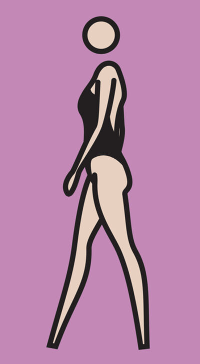 Julian Opie, 'Monique Walking., , 219.5 x 123 cm', 2008