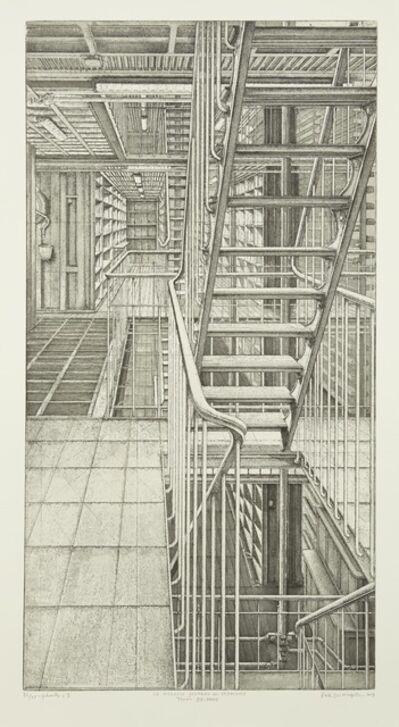 Erik Desmazières, 'Travée est-ouest, from Le Magasin central des imprimés', 2013