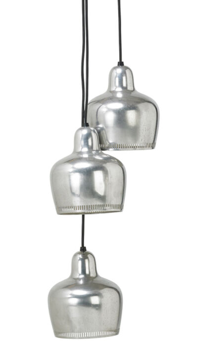 Attributed to Paavo Tynell, 'Three pendant lamps', 1950s