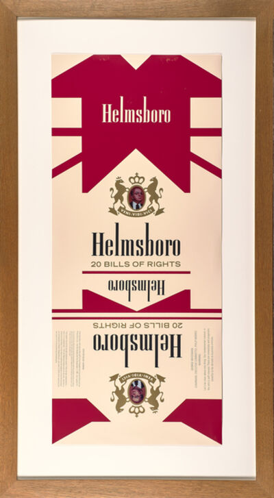 Hans Haacke, 'Helmsboro Country (unfolded)', 1990