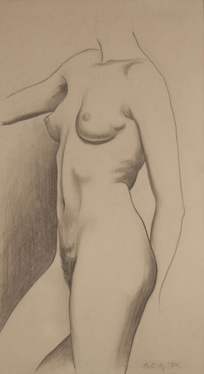 George Ault, 'Standing Nude', 1934