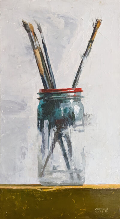 Craig Stephens, 'Brushes in Glass Jar'