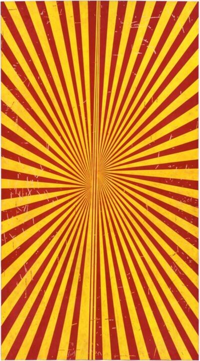 Mark Grotjahn, 'Untitled (Crimson Red and Canary Yellow Butterfly 798)', 2009