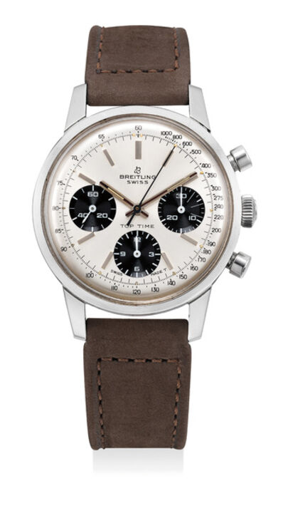 Breitling, 'A fine stainless steel chronograph wristwatch with panda dial', Circa 1970