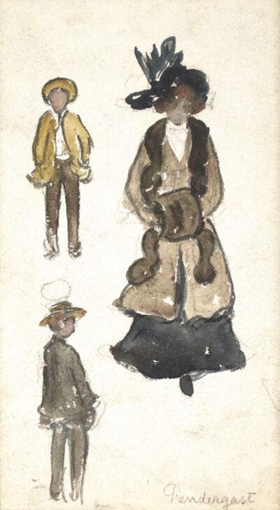 Maurice Brazil Prendergast, 'Three Figures', 1905-1907