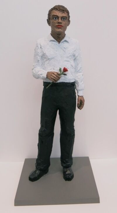 Stephan Balkenhol, 'Man with Rose', 2016