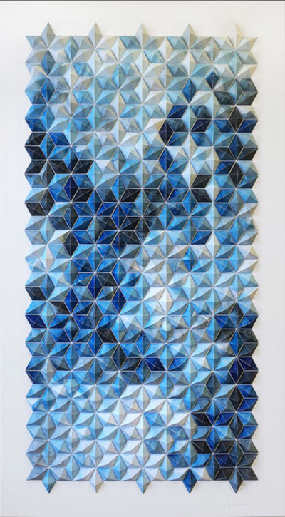 Matt Shlian, 'Breath Castles in Blue (I)', 2015
